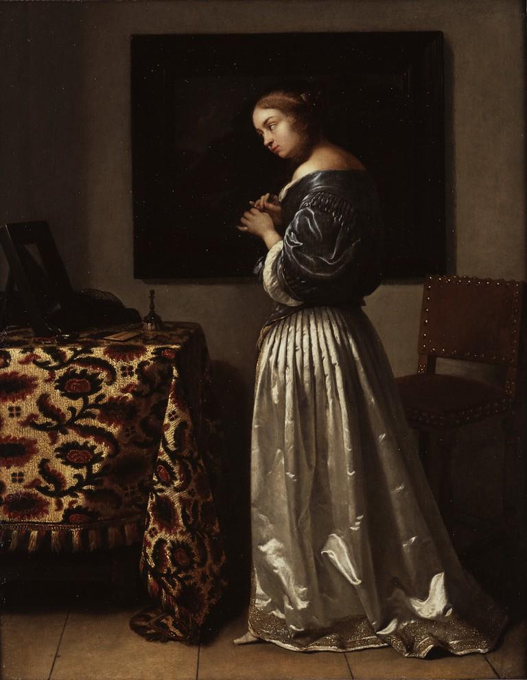 Caspar Netscher, 'Woman at her Toilet', c.1665
