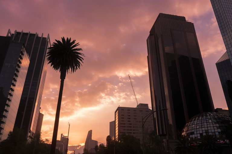 Sunset in Mexico City, Mexico