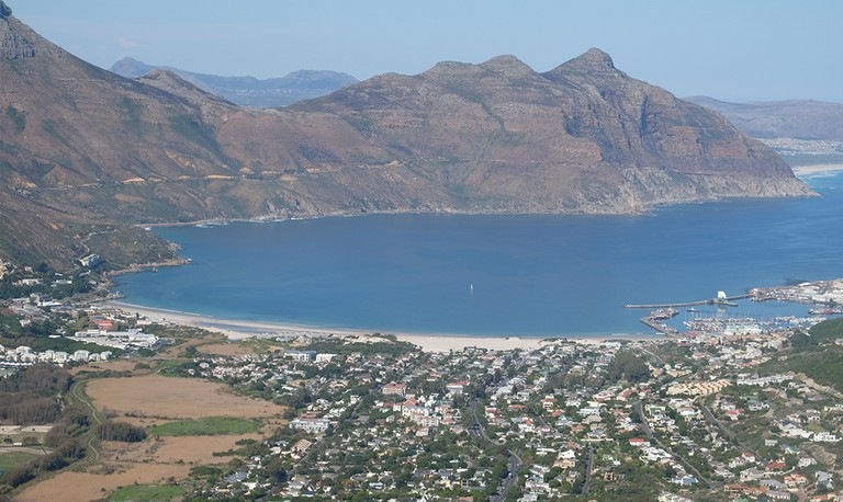 Chapman's Peak Drive cuts into an impossible cliff face /