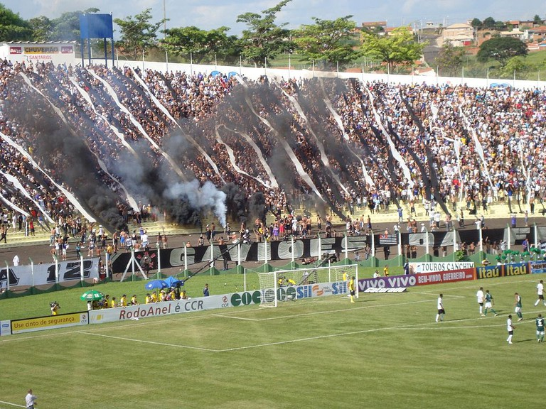 Corinthians supporters during the Derby