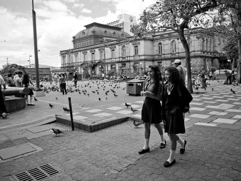 Schoolgirls in San José, Costa Rica