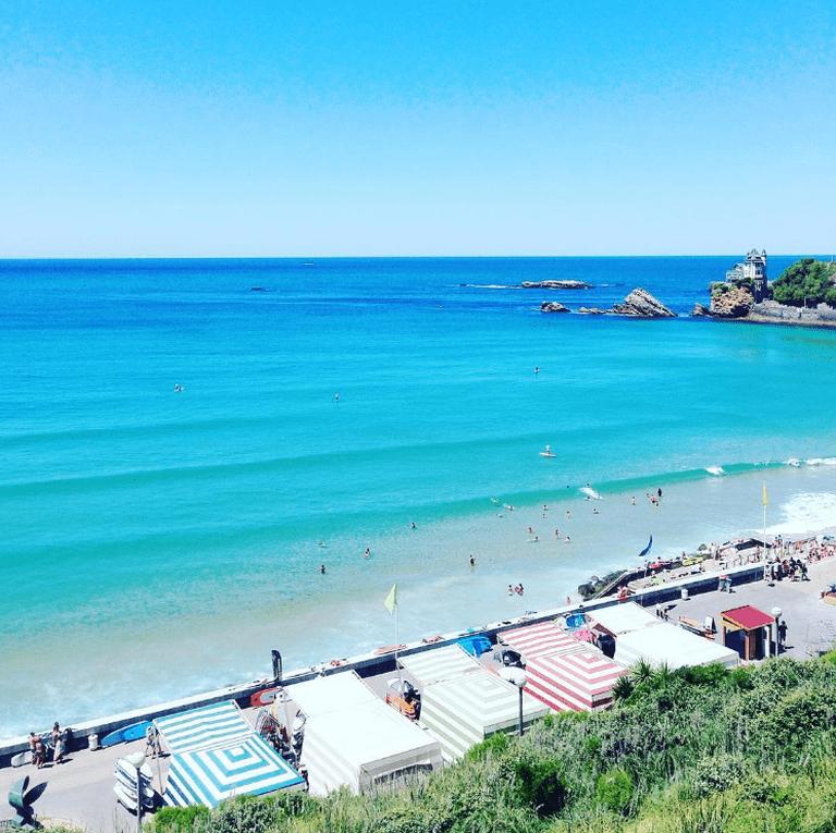 Côtes des Basques beach