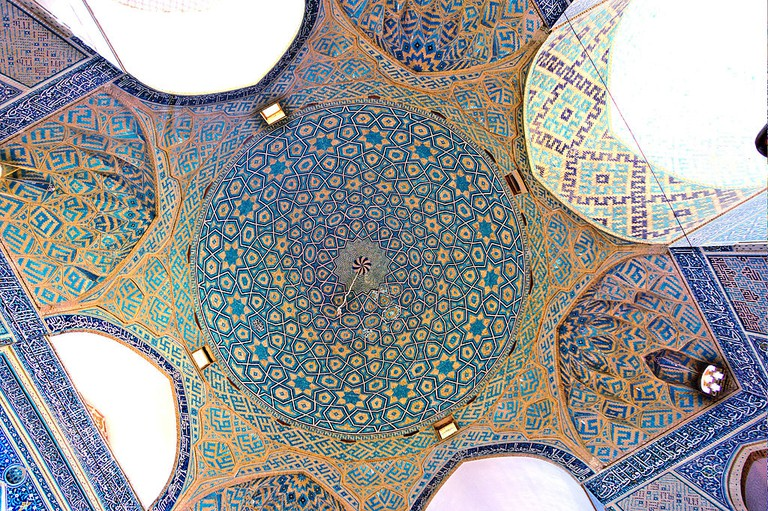Jameh Mosque ceiling and detail