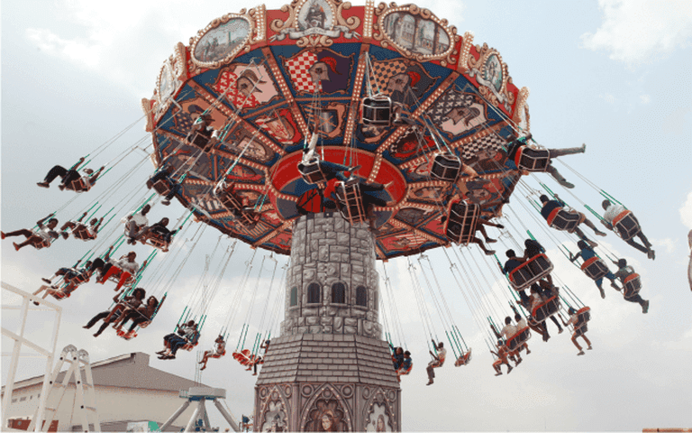 "The ""Dream Machine"" at the amusement park"