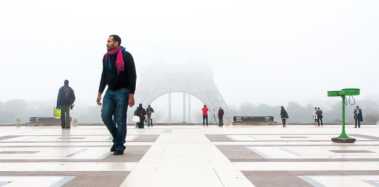 Eiffel Tower fog │© Jean-François Gornet / Wikimedia Commons