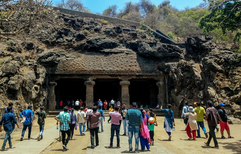 The caves in Elephanta island was built between 5th and 8th century