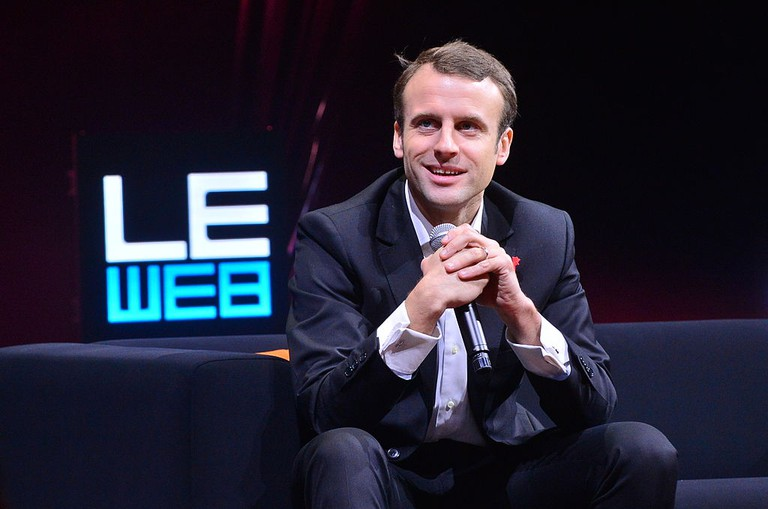 Emmanuel Macron at LE WEB │© OFFICIAL LEWEB PHOTOS / Wikimedia Commons