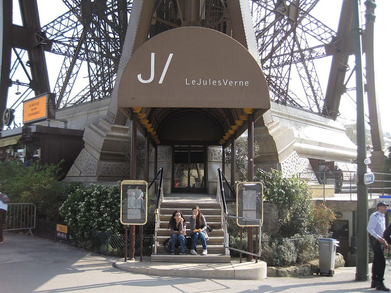 Entrance to Le Jules Verne│