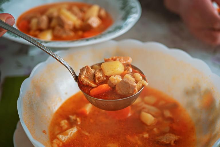 Hungarian cuisine goulash