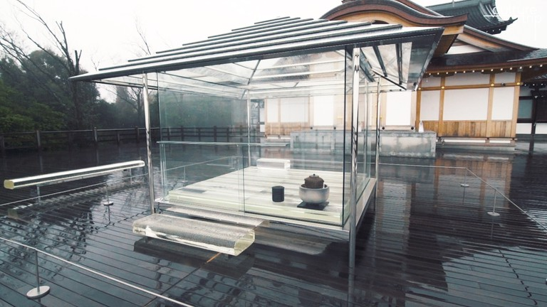 The Glass Tea House in Kyoto, Japan