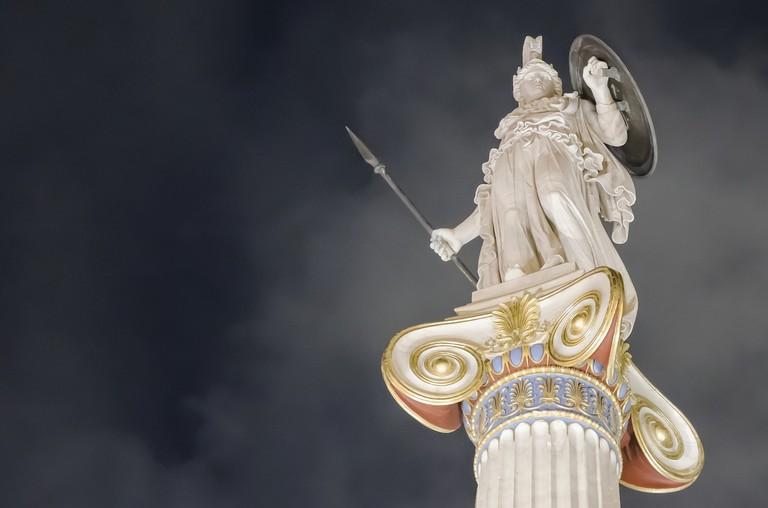 Statue of the goddess Athena, patron of Athens