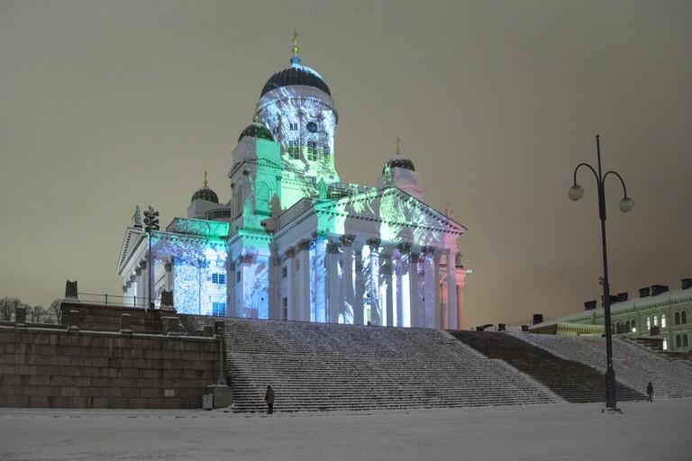 Helsinki Cathedral in winter