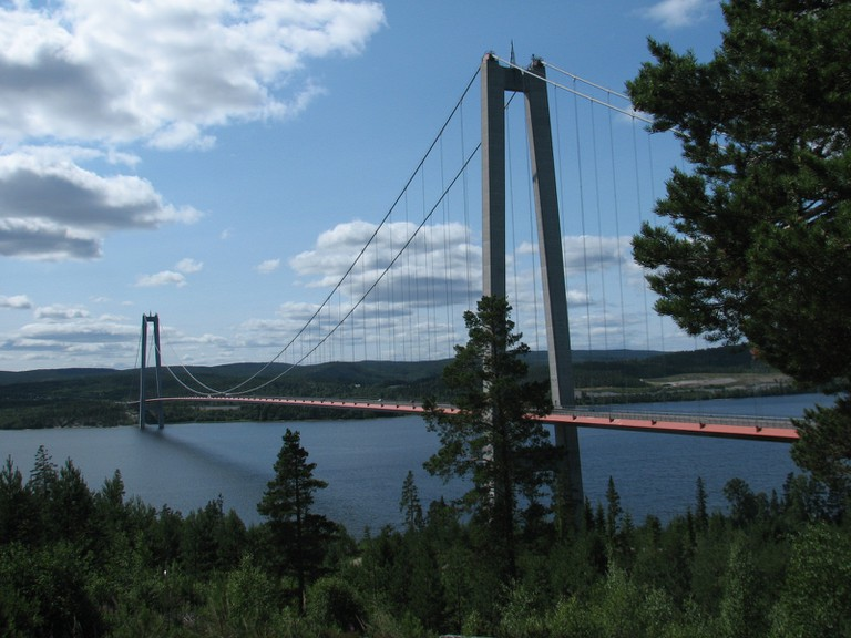 Be sure to check out the High Coast Bridge