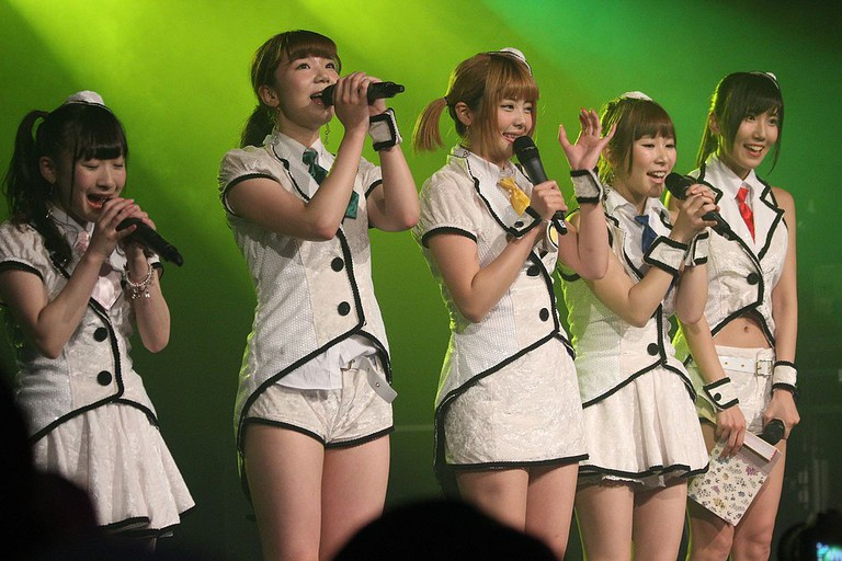 Japanese idol group Honey Spice on stage at HYPER JAPAN festival, summer 2015