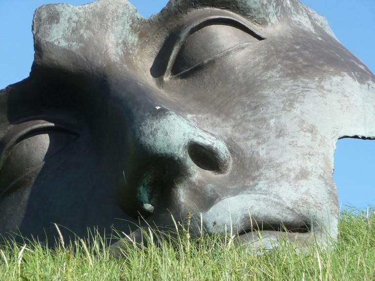 A sculpture by Igor Mitoraj at Beelden aan Zee