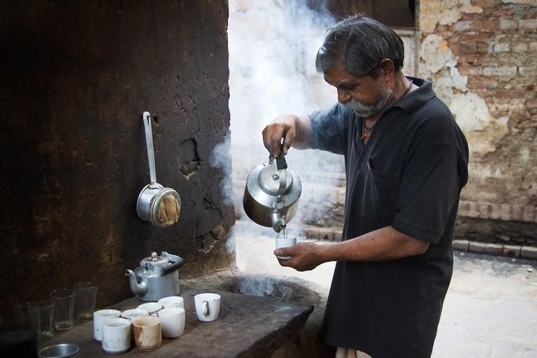 A chai stall in Varanasi