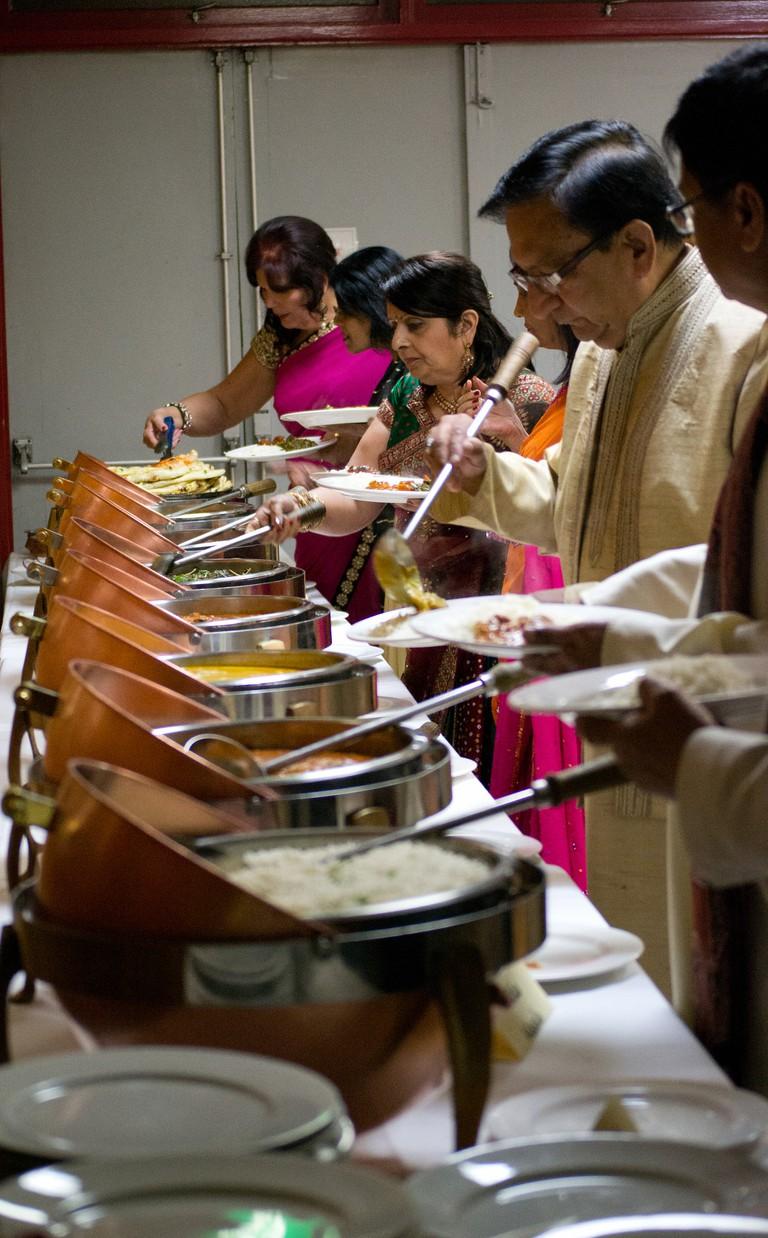 Indian wedding buffet