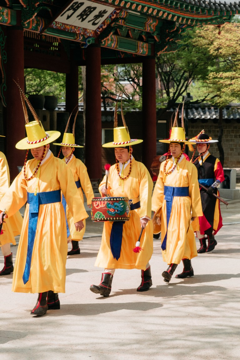 Traditional dress at one of Seoul's Ancient Palaces