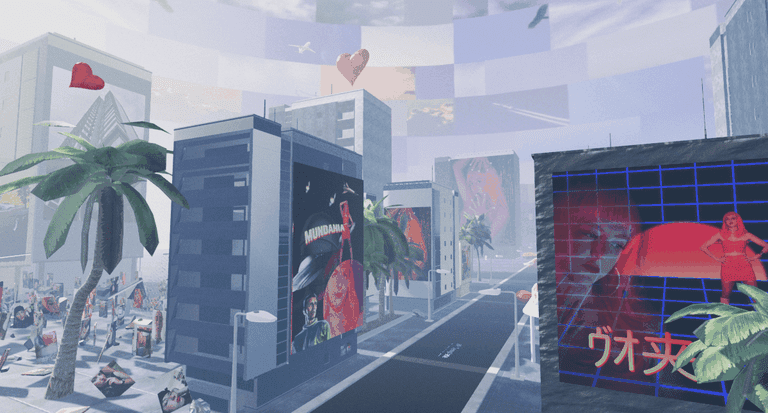Detail of Jocelyn Anquetil's 'Mundania' VR experience