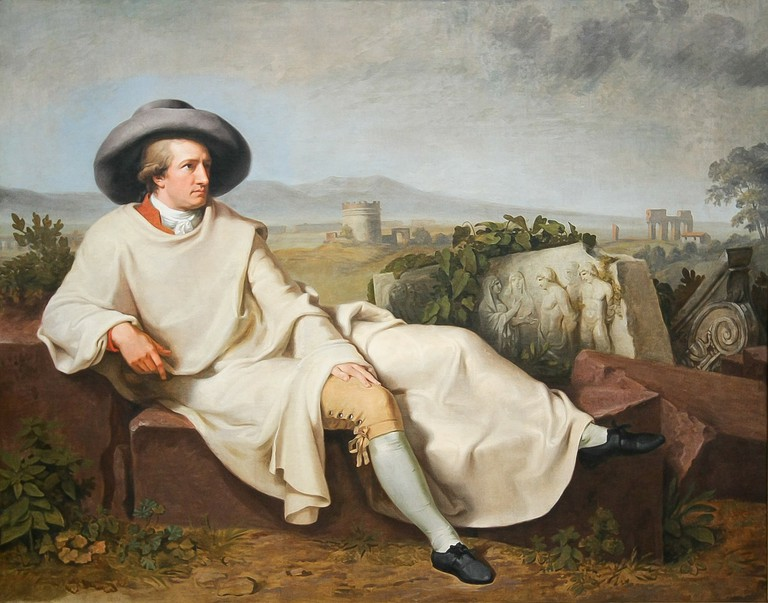 A painting of Goethe