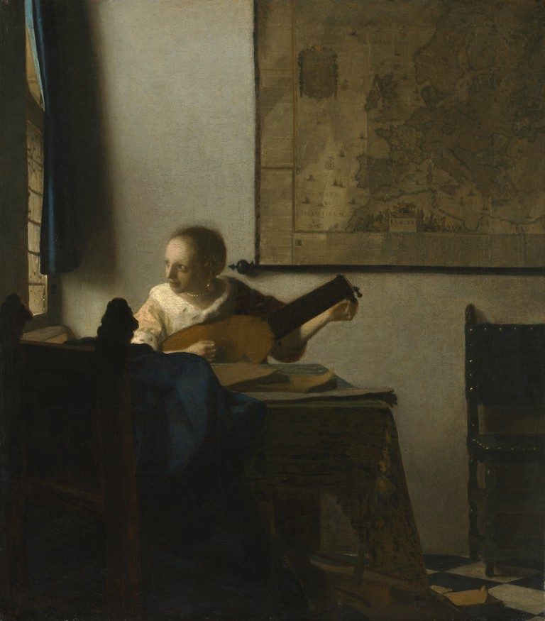 Johannes Vermeer, 'Woman with a Lute', c.1663-4
