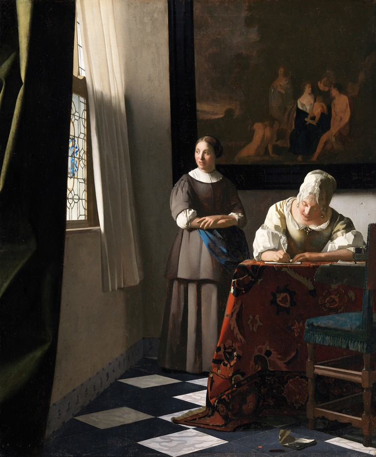 Johannes Vermeer, 'Woman Writing a Letter with her Maid', c.1670-71