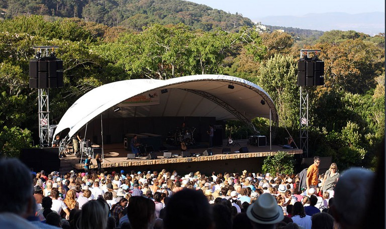 The Summer Sunset Series is held in the famous Kirstenbosch National Botanical Gardens