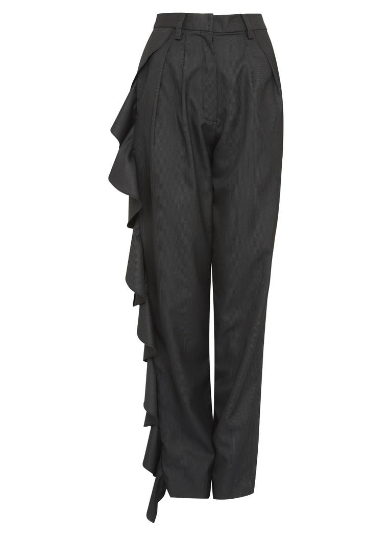 Black Ruffled Trousers