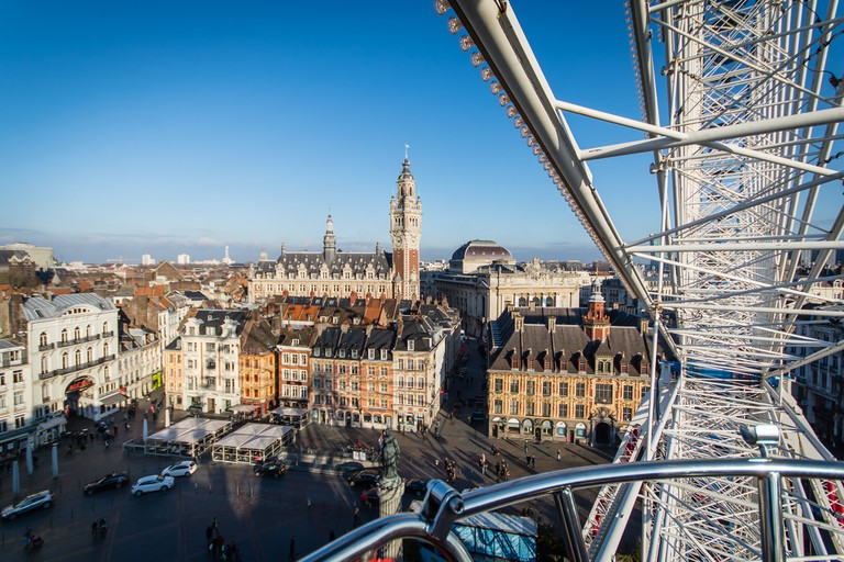View of the Grande Place from the ferris wheel