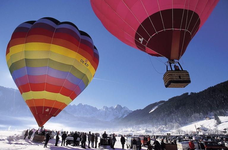 Ballooning near Gosau Upper Austria