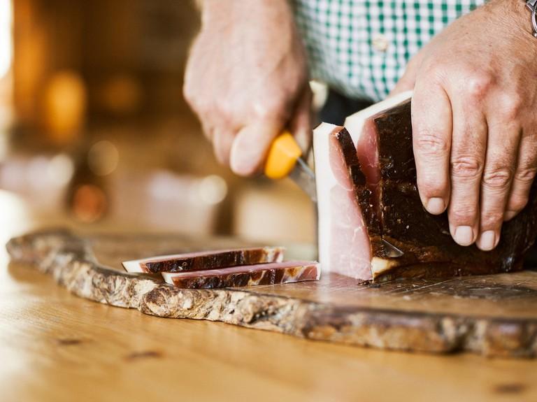 """""""Gailtal Speck"""" (bacon), Thema: Feines aus der Region"""