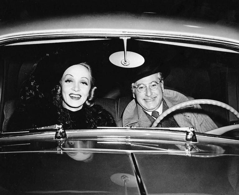 Marlene Dietrich and Josef Von Sternberg in later years