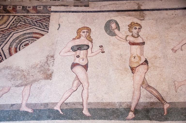 mosaic at the Villa Romana del Casale©Paul Asman and Jill Lenoble:Flickr