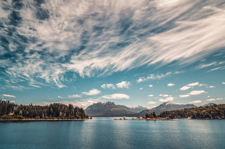 Lake Nahuel Huapi, one of the lakes that form a part of the Seven Lakes route