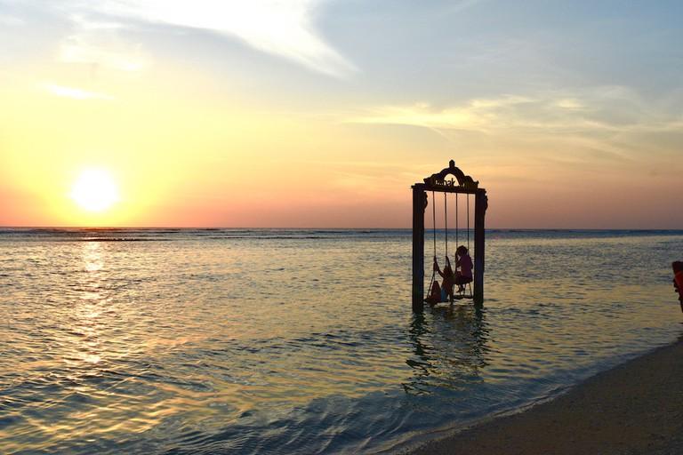 Danu swing at sunset