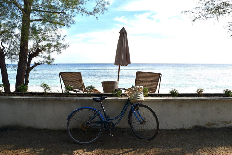 Bicycling around Gili T