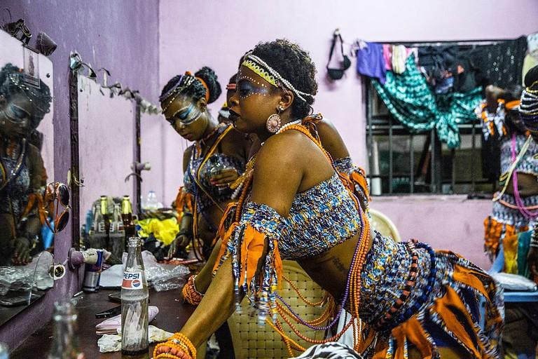Dancers at the Afrika Shrine