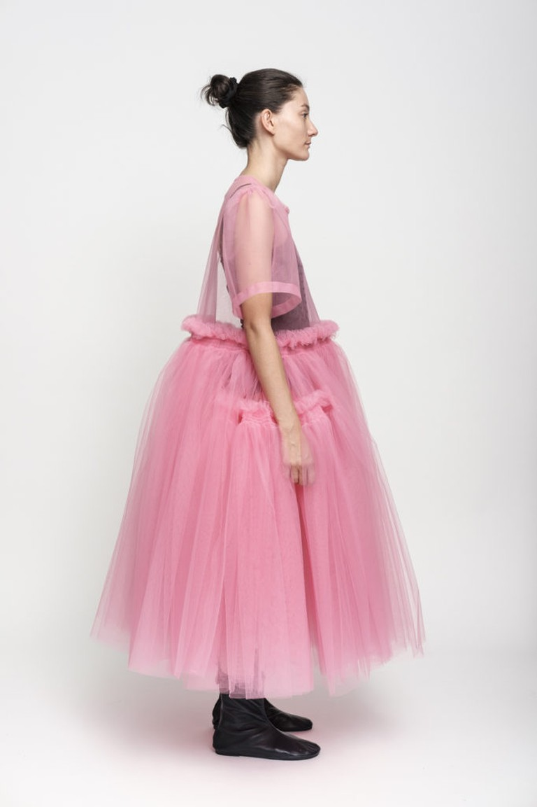 Molly Goddard, Charity dress in pink, £1,459