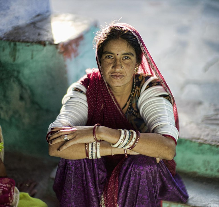 A Rajasthani woman