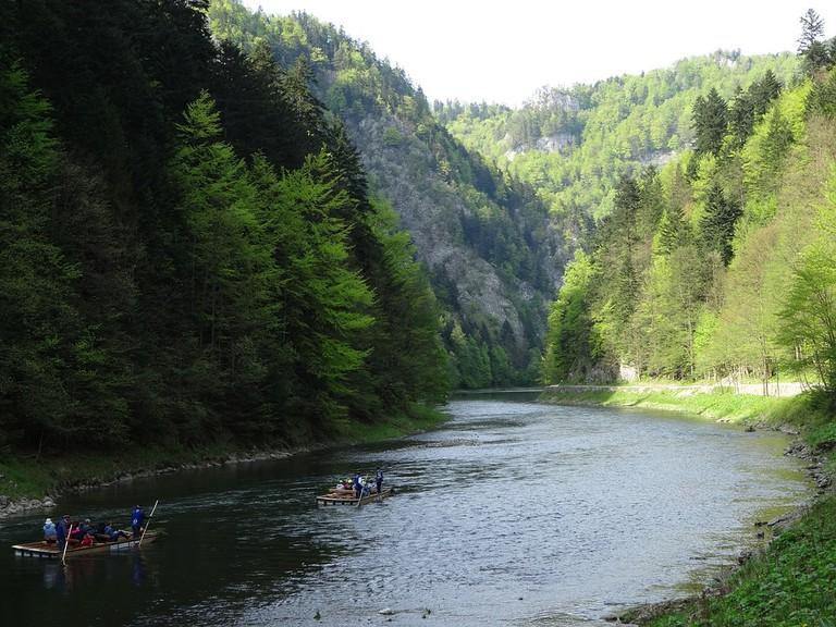 Wooden Rafts in Pieniny National Park