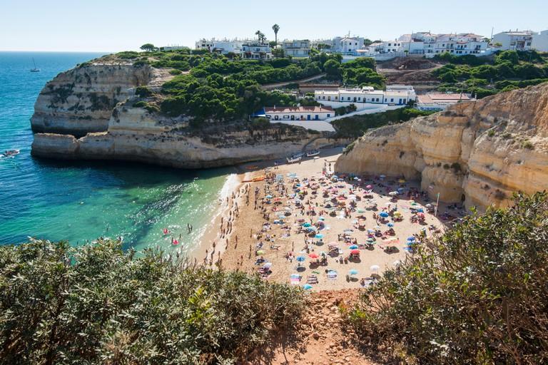 Benagil beach in the Algarve, Portugal