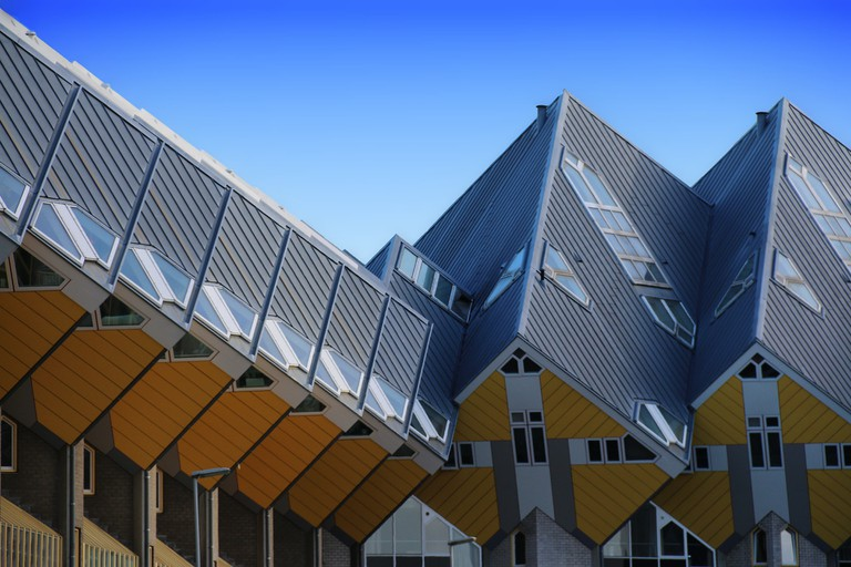 There are many architectural masterpieces in Rotterdam including the city's famous Cube Houses