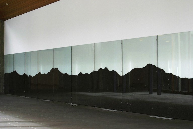 "Ragna Robertsdóttir, ""Hekla,"" 2004, Lava from Hekla, Installation view from Reykjavik Art Museum - Kjarvalsstaðir, 2004 