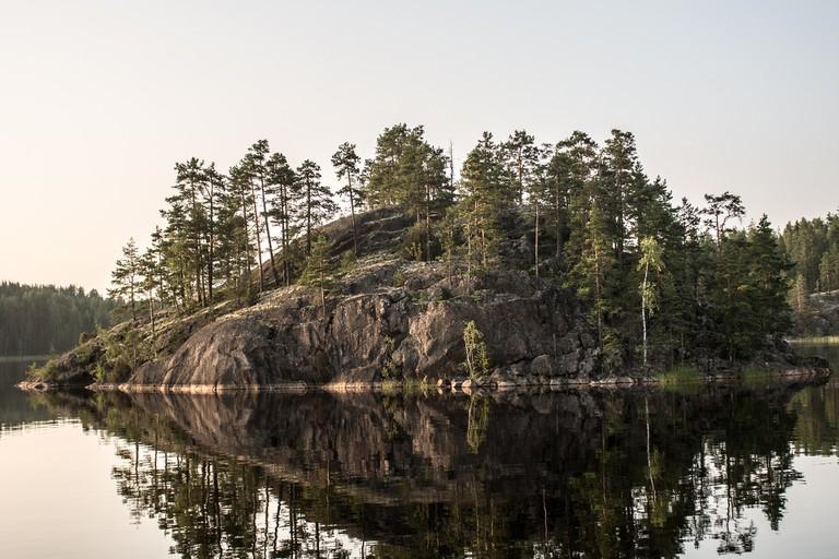 An island on Lake Saimaa