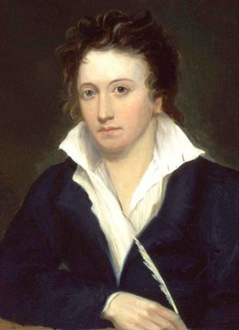 Percy Shelley (1819), by Alfred Clint