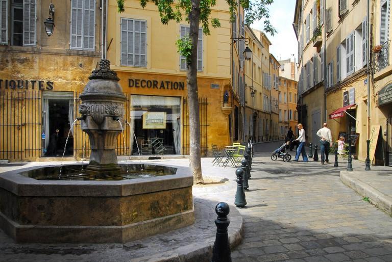 The fountain des trois ormeaux