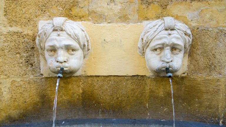 There are simply fountains everywhere in Aix en Provence