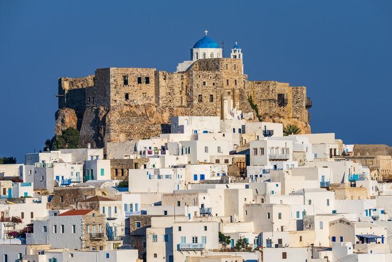 The Querini castle in Astypalaia island Greece