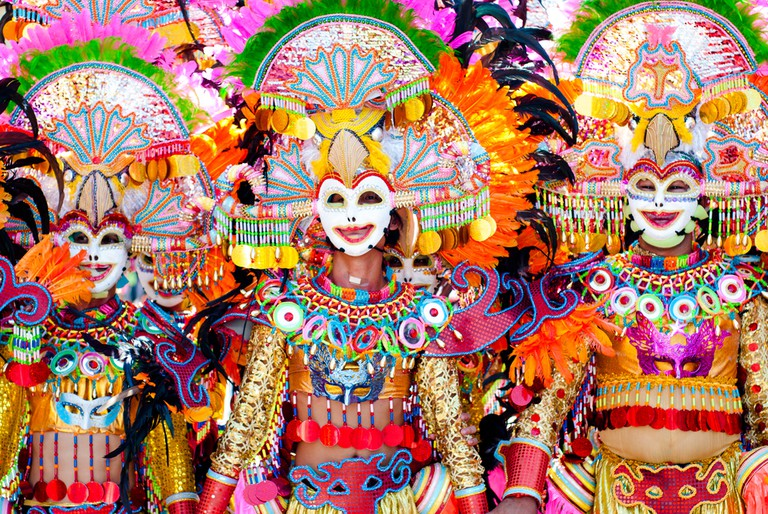 Colorful Masks and Costumes