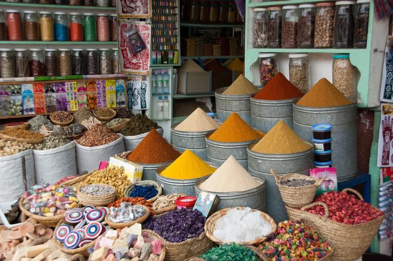 Spices in Marrakech's souks